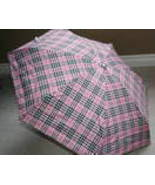 Brand new small lightweight pink plaid foldable... - $29.99