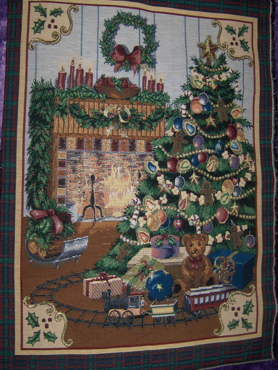 """Home for Christmas"" Tapestry Wall Hanging"