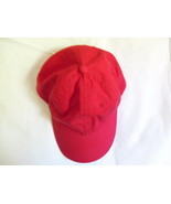 Red 6 Panels Baseball Hat Cap with Adjustable Strap New