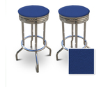 Buy 2 Blue Vinyl Specialty / Custom Bar stools Set 29&quot;