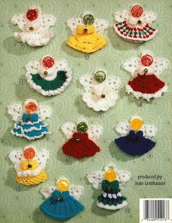 Crochet Lollipop Angels Ornament Patterns - Home Decor