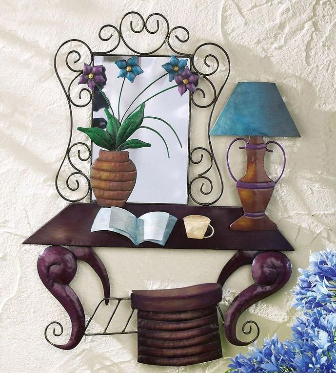 Lexington Reading Table Scene Metal Wall Hanging