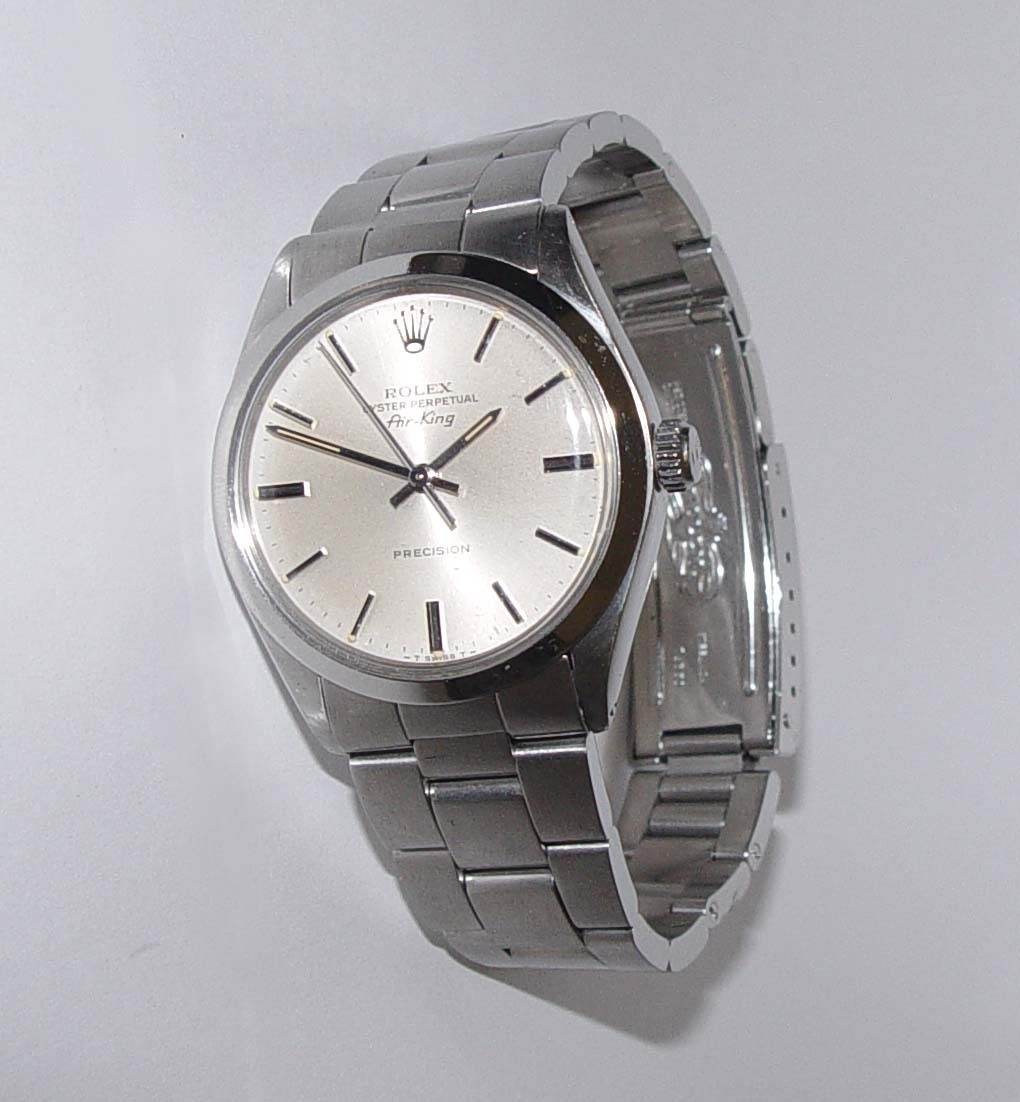 Mens Stainless Steel Rolex Air-King Oyster Perpetual Watch
