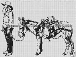 Bead Pattern Cowboy Miner Horse Peyote Stitch 006 - $0.00