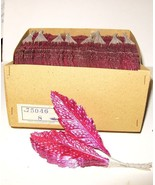 3doz Vintage Millinery Flower Xmas FOIL LEAVES ... - $9.99