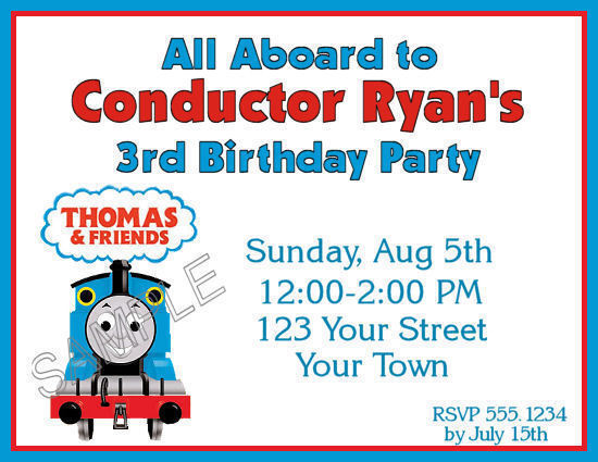 Thomas The Train Personalized Birthday Invitations as Inspirational Template To Create Inspirational Invitations Ideas