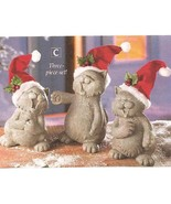 Caroling Cats Christmas Figurines New