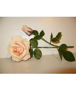 Vintage Millinery Hat Flower 2 Peach Cream ROSES - $9.64