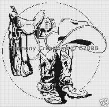 Bead Pattern Cowboy Saddle Boots Hat Loom Stitc... - $0.00