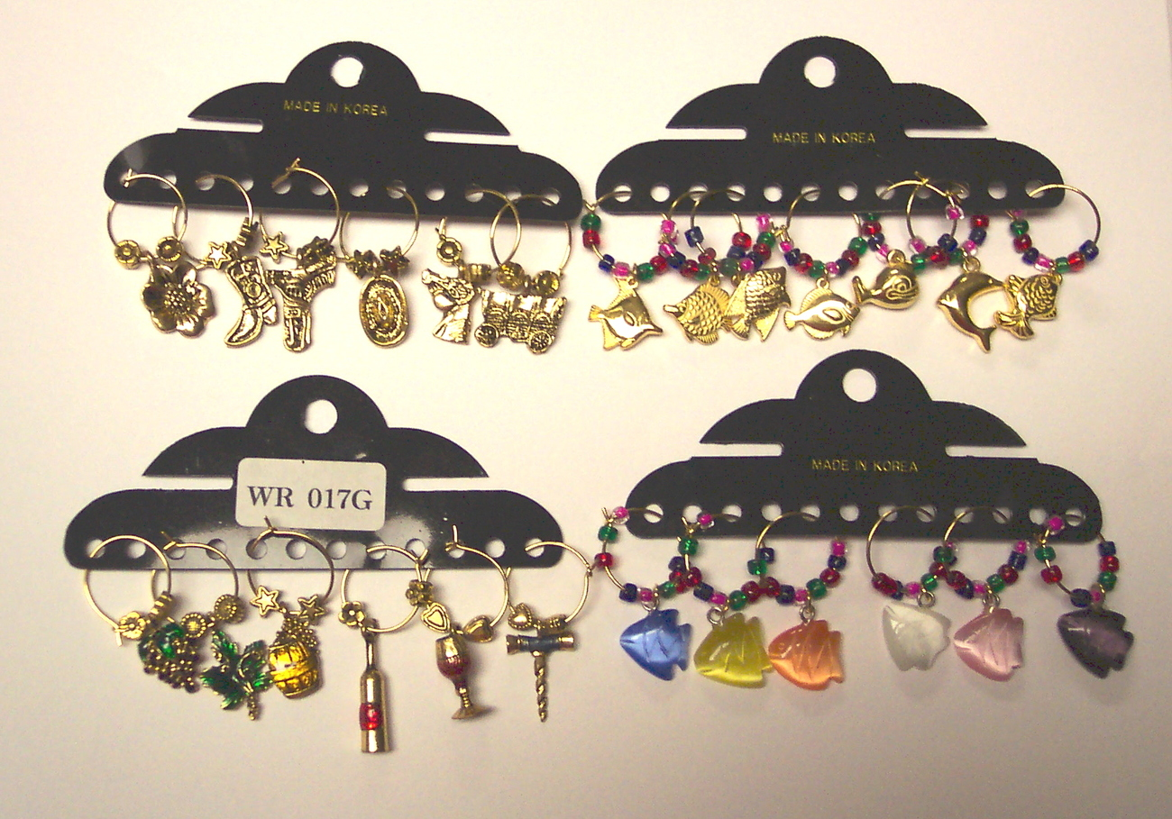 Wine Charms assortment,  Wine Glass Charms Marker