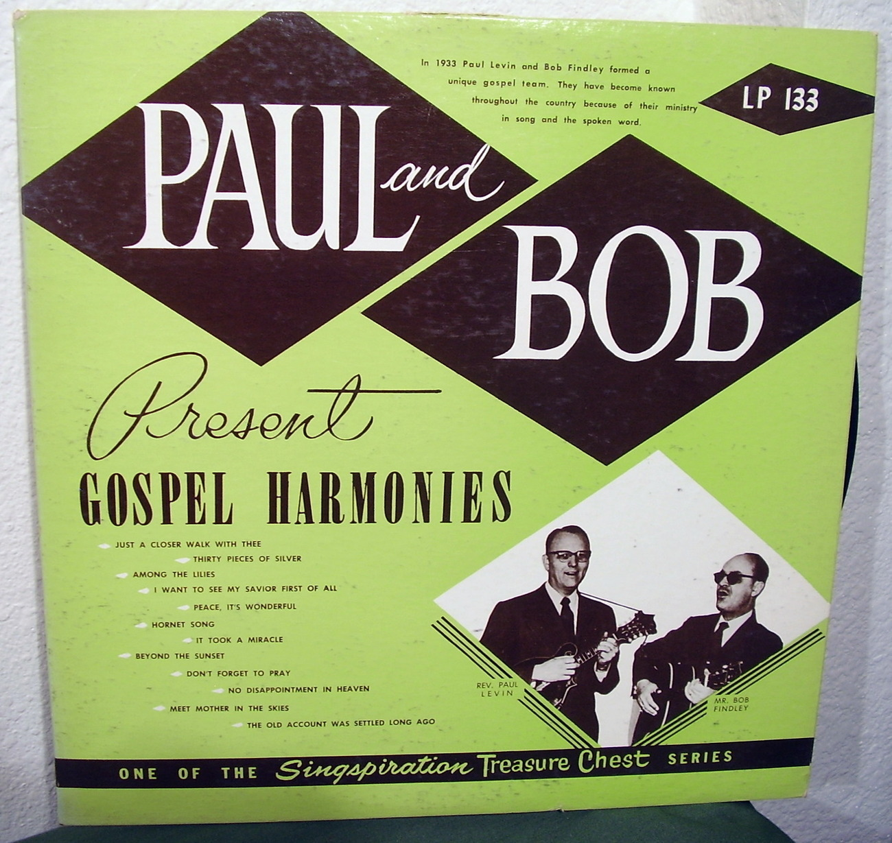 Paul and Bob Present Gospel Harmonies LP Vinyl