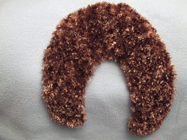 Handknit Collar/wrap Eyelash in Soft mink yarns new - Blue Ridge Mtns - Bonanzle :  eyelash brown wrap soft