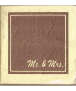 Mr. & Mrs. Cocktail Paper Napkins in Lucite Holder - $5.00