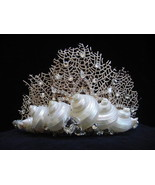 Sea Fan Coral Shell Beach Wedding Mermaid Ariel Tiara