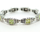 Buy DESIGNER INSPIRED LEMON QUARTZ CZ DECO STRETCH BRACELET