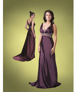 Purple prom dress  4/5 Milano Formals satin plu... - $50.00