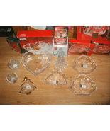 Set of 8 MIKASA Crystal CHRISTMAS Bowls Candle ... - $74.99
