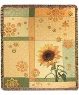 60x50 Garden SUNFLOWER Floral Tapestry Throw Af... - $46.50