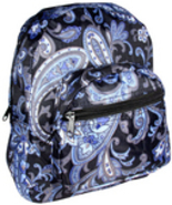 Toddler Child Girls PreSchool Small Backpack Purse Blue Black White Paisley NEW