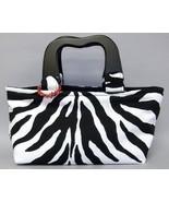 Meredith Zebra Stripe Purse Chic Handbag Animal... - $77.00