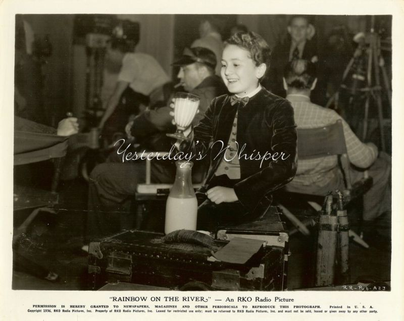 Bobby Breen drinking Milk 2 Original Movie Still Photos