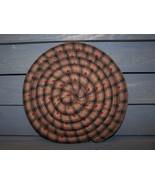 Large Homespun Scented Coaster Tan and Black Ho... - $15.90