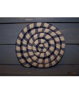 Large Homespun Scented Coaster Blue and Tan Hom... - $15.90