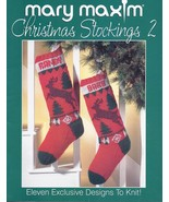 Mary Maxim Christmas Stockings 2 Knitting Patte... - £26.71 GBP