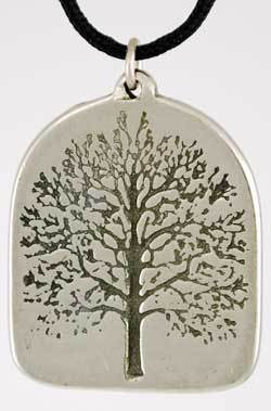 Tree of Life Amulet Pewter Pendant w Necklace