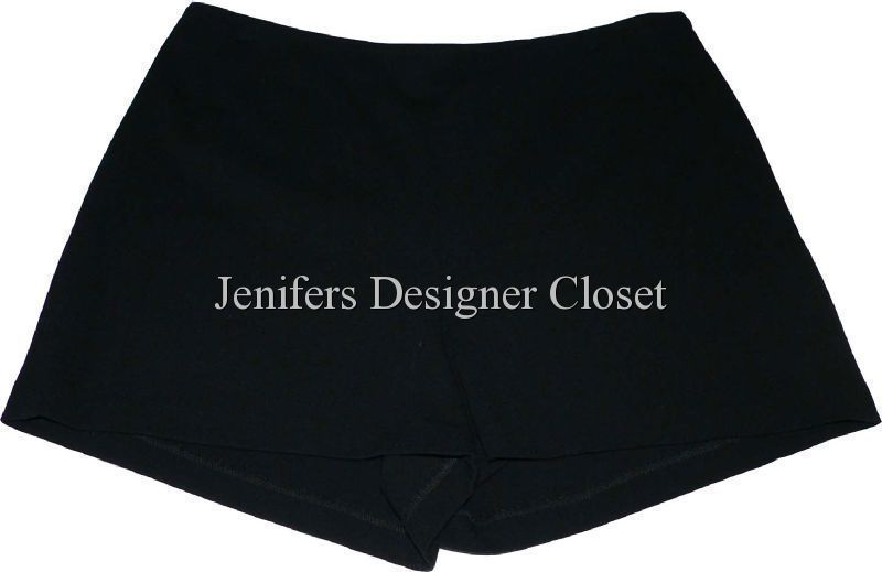 NWT SoCa ST. JOHN Ponte Knit Mini Shorts black $245 12