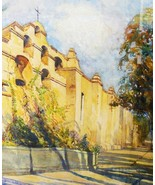 Impressionist Watercolor California Landscape S... - $565.00