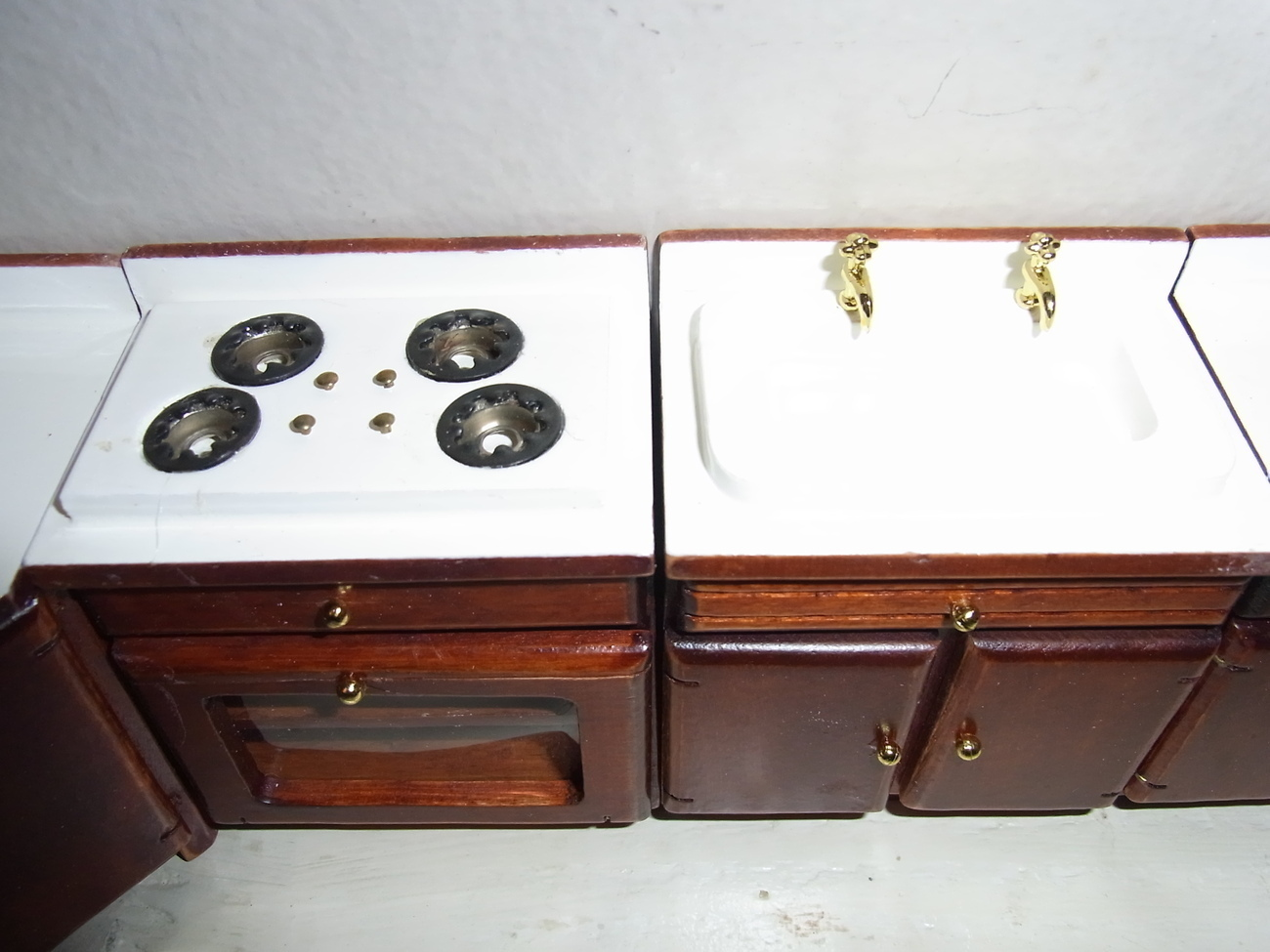Image 1 of Kitchen Doll Furniture Wood Sink , Stove Etc
