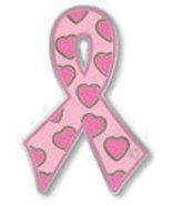 Breast Cancer Lapel Pin Pink Awareness Ribbon H... - $11.97