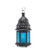 Blue Glass Moroccan Lantern 8