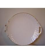 Royal Worcester Cake Plate Handled England Bone... - $22.00