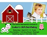 Buy Announcements - Down on the Farm Printable Birthday Invitation - DIY Design