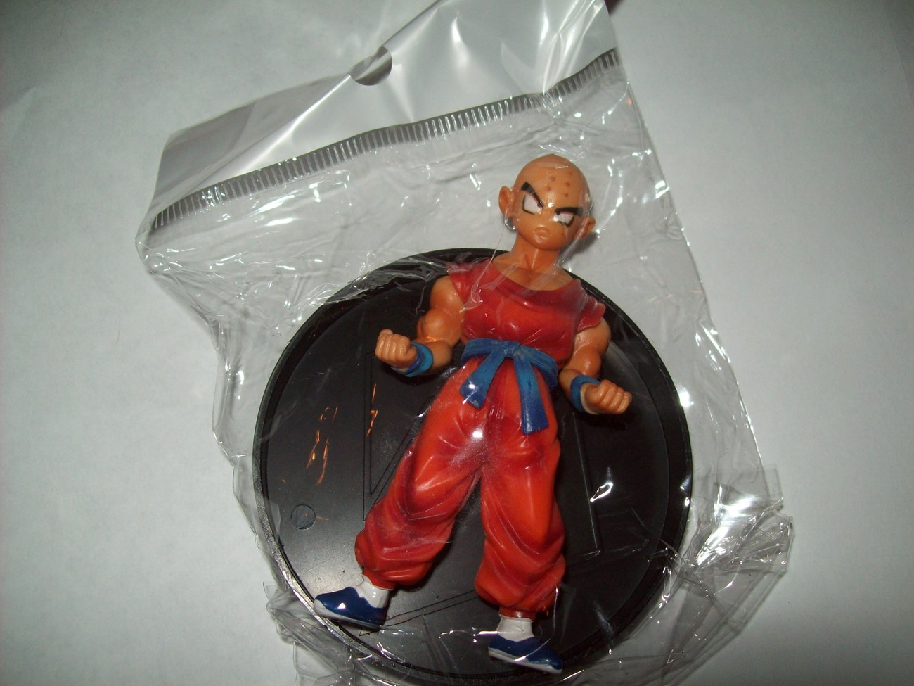 krillin dragonball z figure brand new in bag 3.5&quot; w/ stand