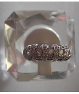 14k W Gold  Vintage Ring Tourmaline & Blue Spin... - $330.00