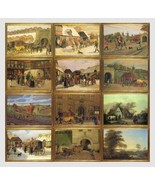12 Cards, Charming Old Paintings, Danish Postal... - $25.00