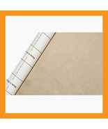 beige adhesive faux suede fabric span upholster... - $22.00