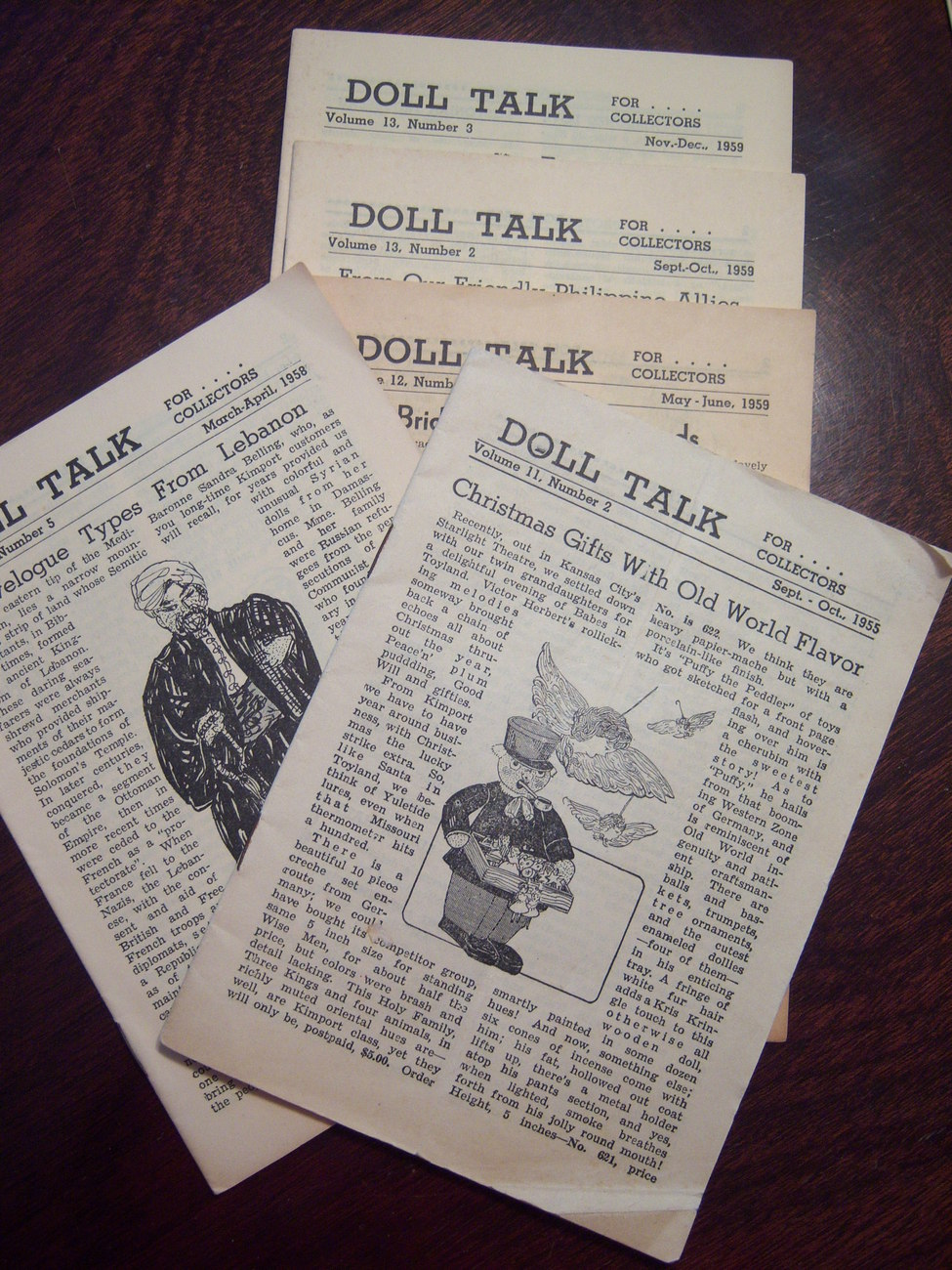 90 Kimport Doll Talk magazines books Collectors 1955 1958 1959 11 complete sets
