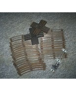 Vintage Lionel Railroad tracks, 26 pieces, O Ga... - $10.00