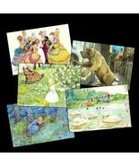5 Pretty Cards w/ Hans Christian Andersen's Fai... - $11.25