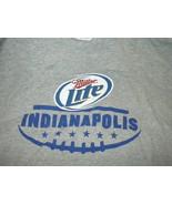 Miller Lite Indianapolis Football Tee Hanes Sz 2XL - $6.50