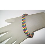 Rainbow Rubber Chainmaille Bracelet - $16.00