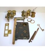 Corbin mortise 1920s vintage door hardware locks keys Lot unused - $65.00