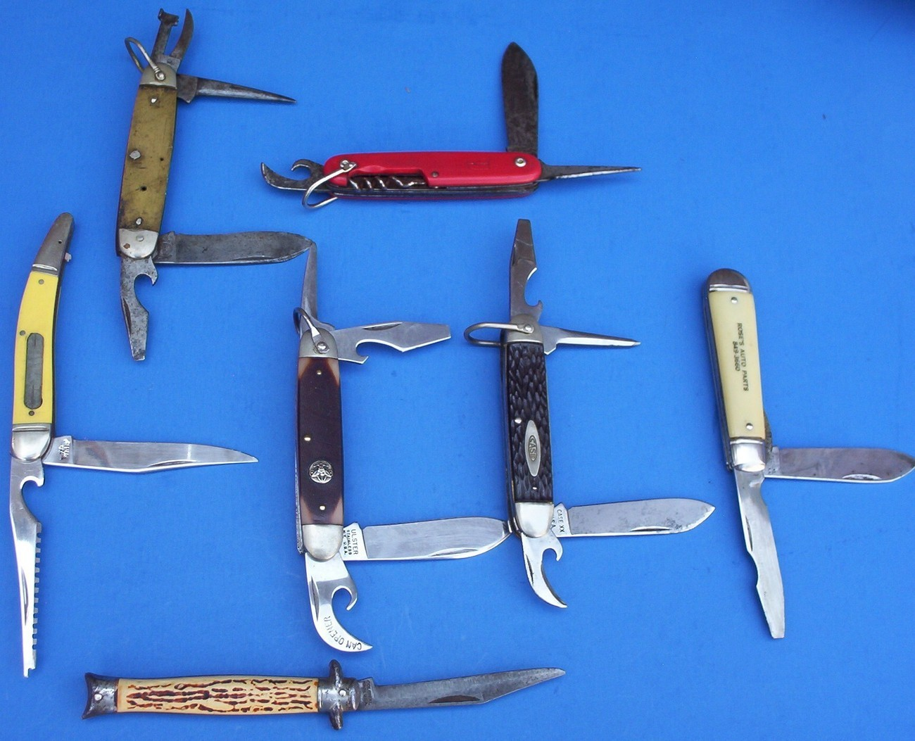 7 Pocket Knife knives Collectible Remington Western Case lot