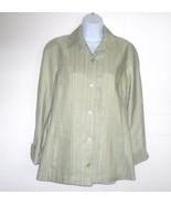 Linda Allard Ellen Tracy Light Green Dress Jack... - $29.00
