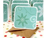 Buy Gift Cards - Blank Miniature Note Cards Gift Cards in Green and Floral