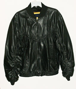 Black Lambskin Jacket Mens by Peter James  Runs Big